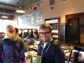 In Starbucks!