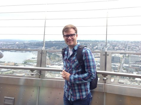 At the top of the Space Needle