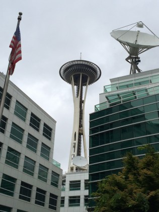 Walking to the Space Needle