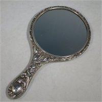 Sterling Silver Hand Mirror Vintage