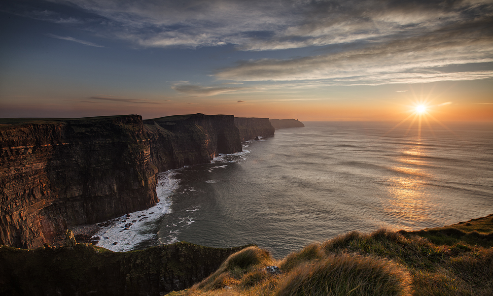 Victoria Falls Sunset Wallpaper Sunset At The Cliffs Of Moher Bryan Hanna Irish
