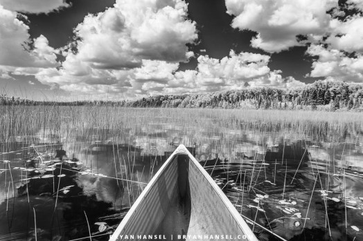 canoe in infrared