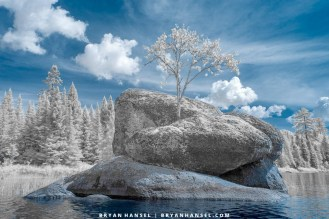 blue and white infrared