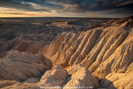 afternoon light in the badlands