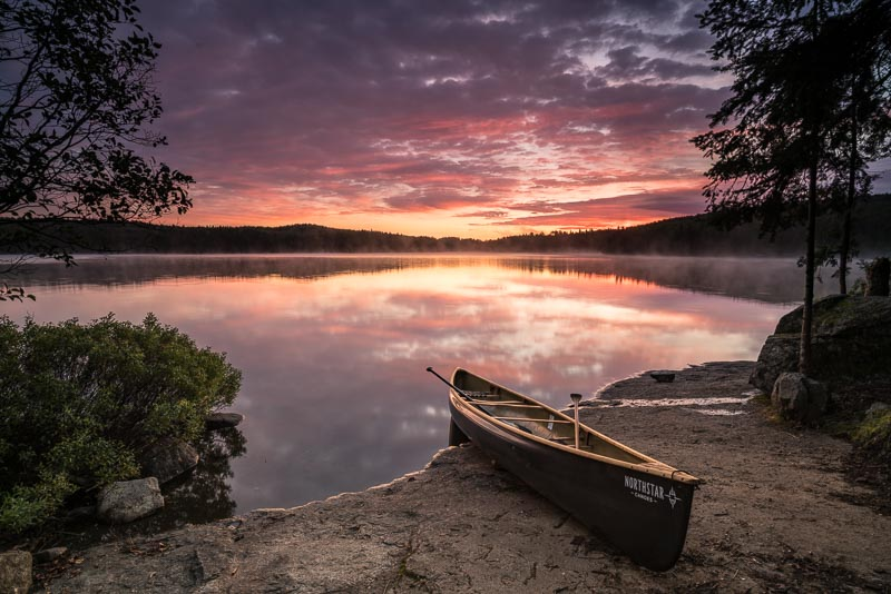 northstar canoe at sunrise on Cherokee Lake
