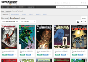 I love Green Arrow, as can be seen from this snapshot of my recent history on Comixology.