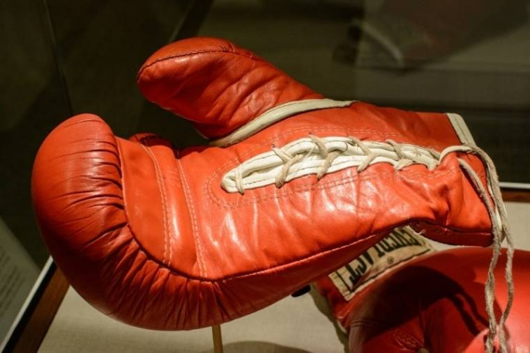 Joe Frazier\'s Red Boxing Gloves