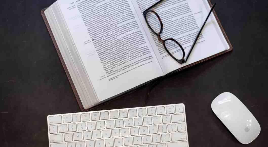 bible book computer keyboard glasses mouse picture resources