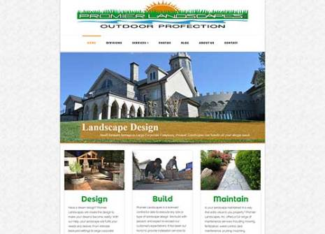 Promier Landscapes Landscaping Website Design