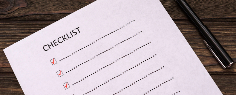 review checklist