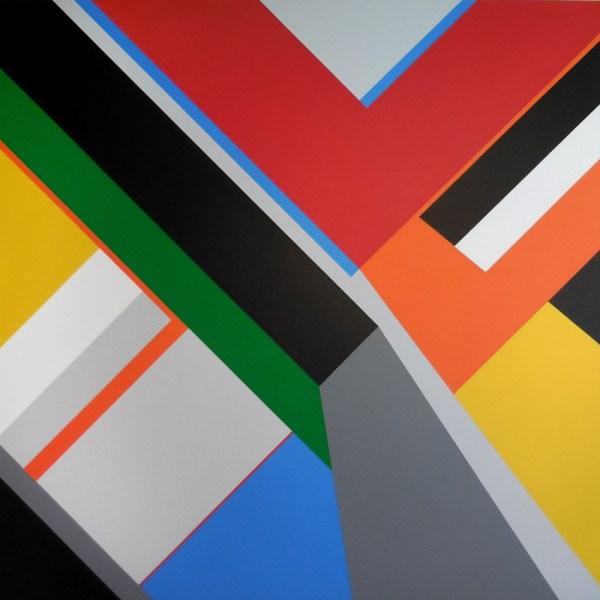 Geometric Abstraction Hard Edge #40 Artist Bryce Hudson