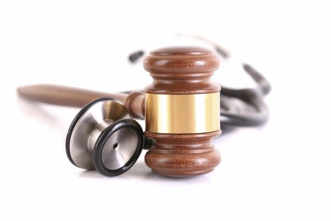 Loredo Accident Attorney gavel and stethoscope