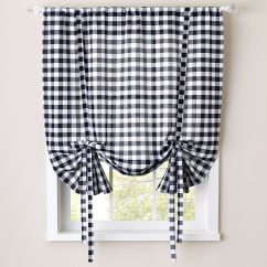 Kitchen Swags Make Overs Curtains Drapes For Window Coverings Brylane Home Buffalo Check Tie Up Shade