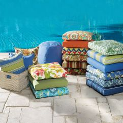 Cushions For Wicker Chairs Samsonite Folding Chair Tufted Cushion Plus Size Outdoor Brylane Home Alternate