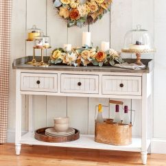 Kitchen Console Table Backsplashes For Kitchens Furniture Rolling Island Carts Brylane Home 3 Drawer