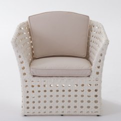 Comfortable Wicker Chairs Training Price Capri All Weather Chair Plus Size Outdoor Brylane Home White