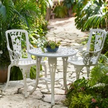 3-pc Rose Bistro Set Outdoor Dining Sets Brylane Home