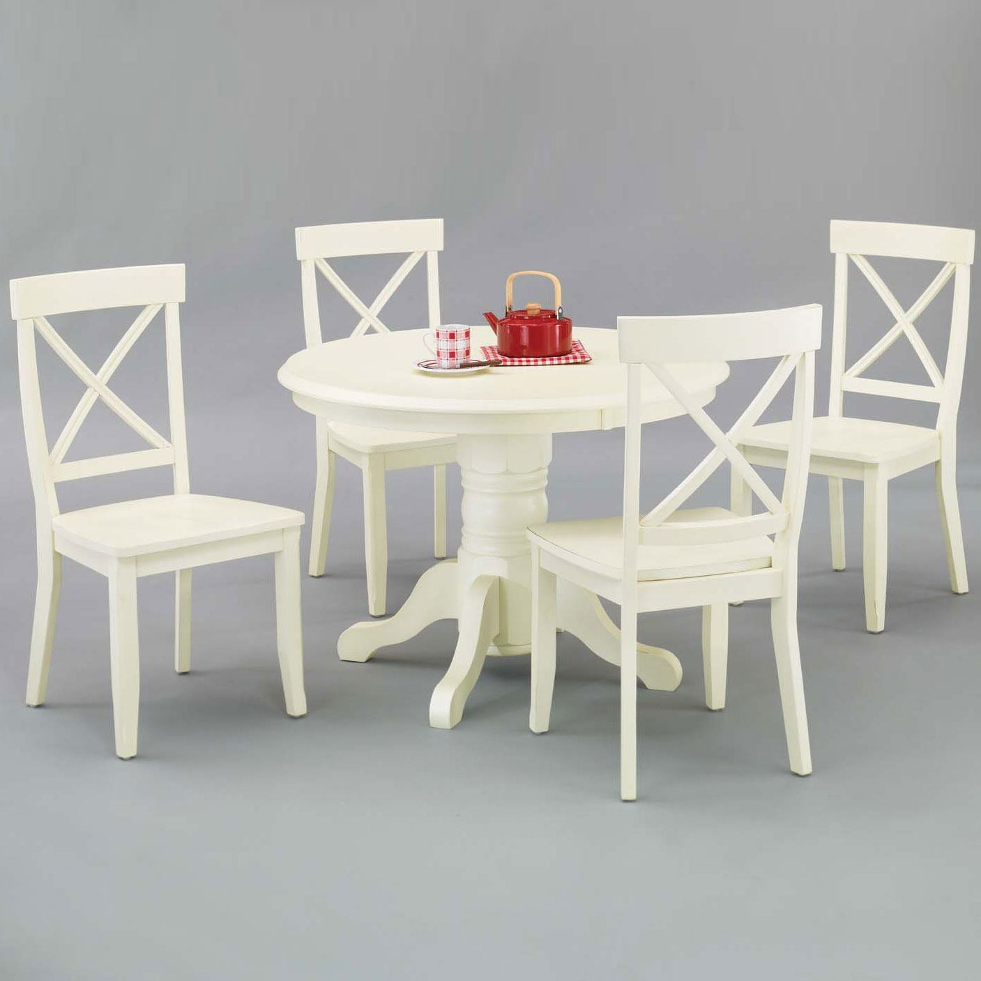 Round Pedestal Dining Table  Side Chairs  Plus Size