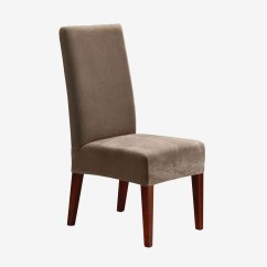 Taupe Chair Covers Affordable Egg Stretch Pique Short Dining Room Cover Plus Size
