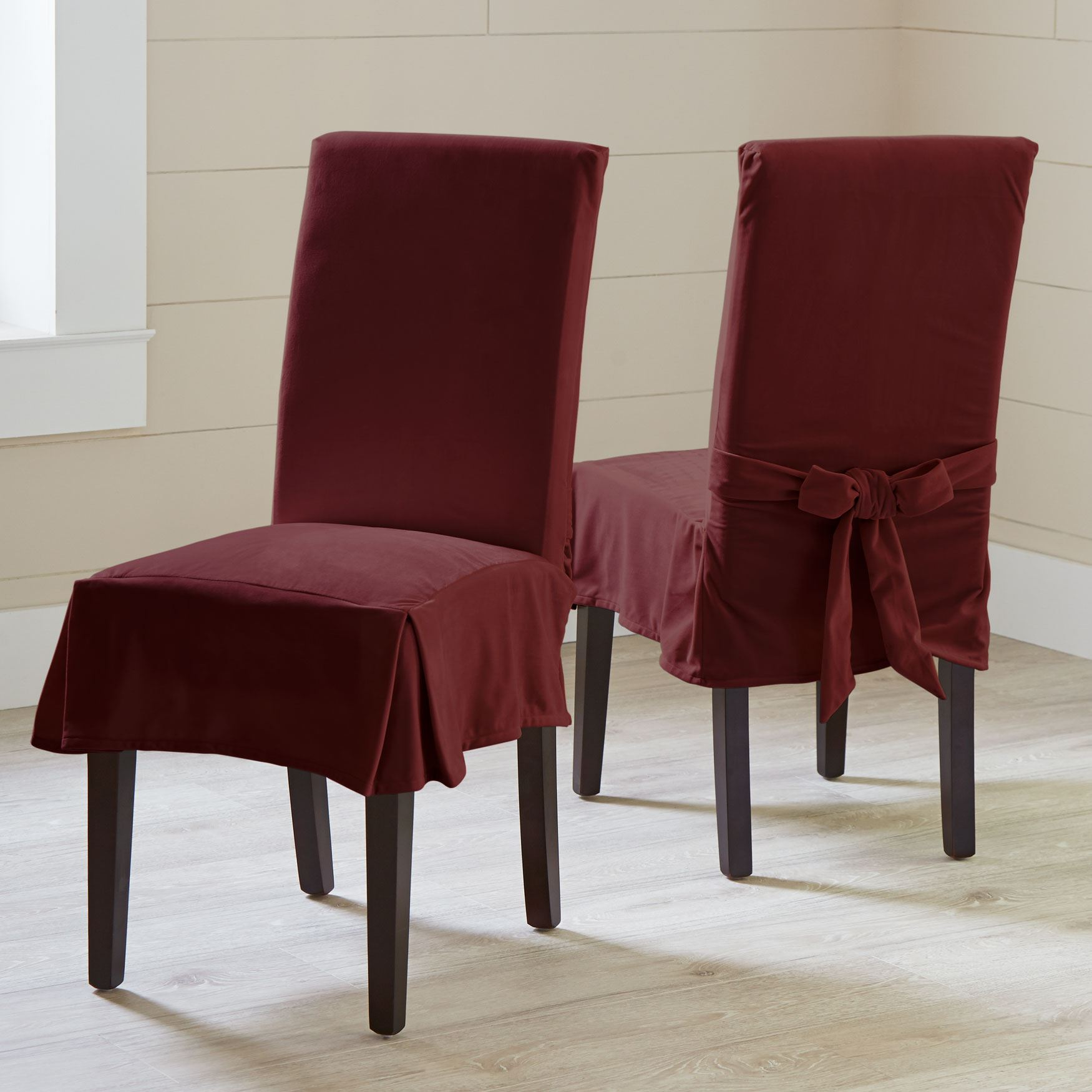 brylanehome chair covers wedding ebay uk venice velvet set of 2 plus size dining room chairs
