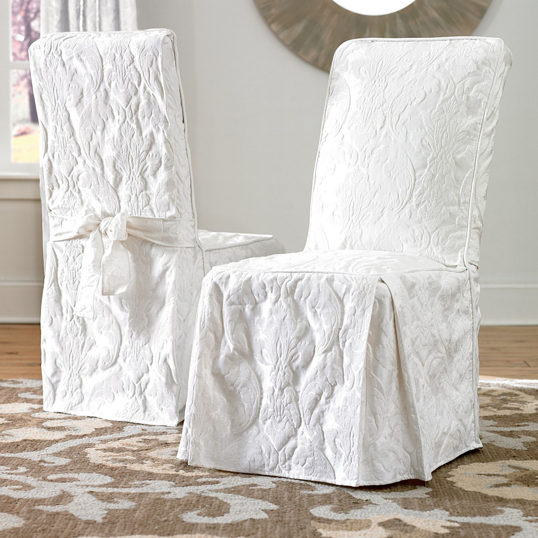 brylanehome chair covers contemporary dining room chairs uk matelasse long cover plus size