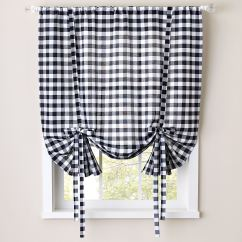 Kitchen Curtians Modern Cabinets Online Buffalo Check Tie Up Window Shade Plus Size Curtains