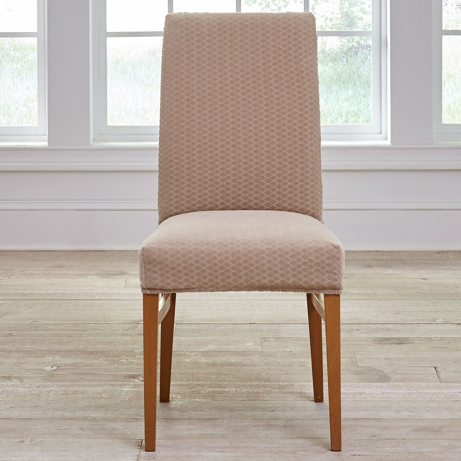 dining chair slipcover electric recliner motors parts bh studio stretch diamond plus size