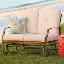 Loveseat Glider Patio Furniture Brylane Home