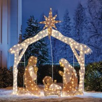 Crystal Splendor Outdoor Nativity Scene | Plus Size ...