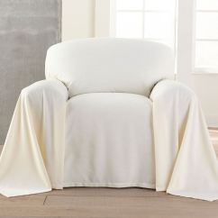 Brylanehome Chair Covers Lift Recliner Dani Dropcloth Style Cover Plus Size Decor Brylane Home