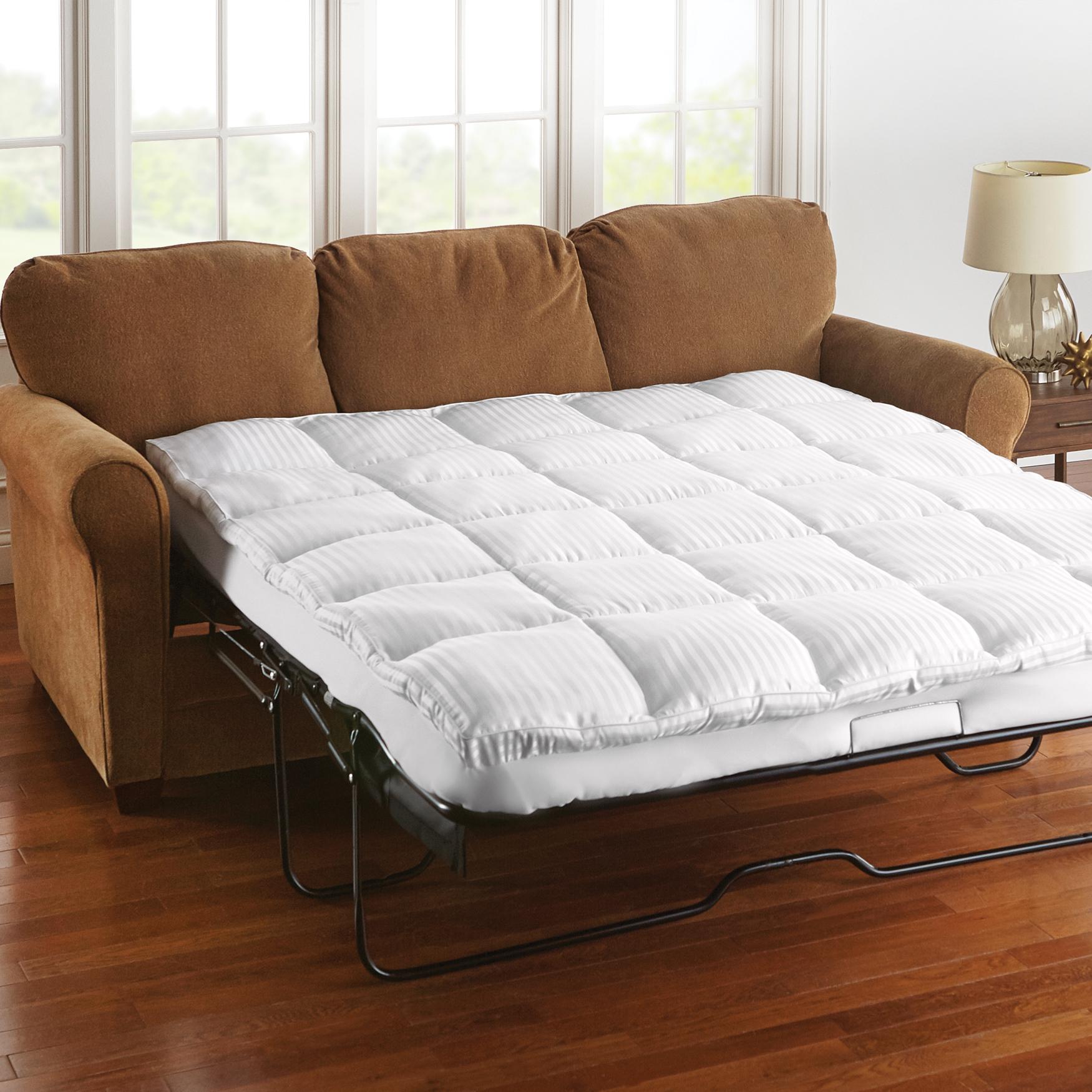 sofa sleeper mattress pad garden uk bed topper plus size pads