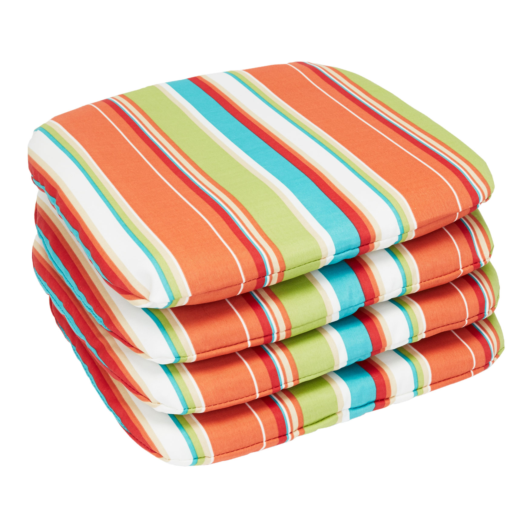 set of 4 stacking chair pads