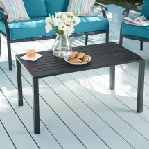 Steel Slat Coffee Table Patio Furniture Brylane Home