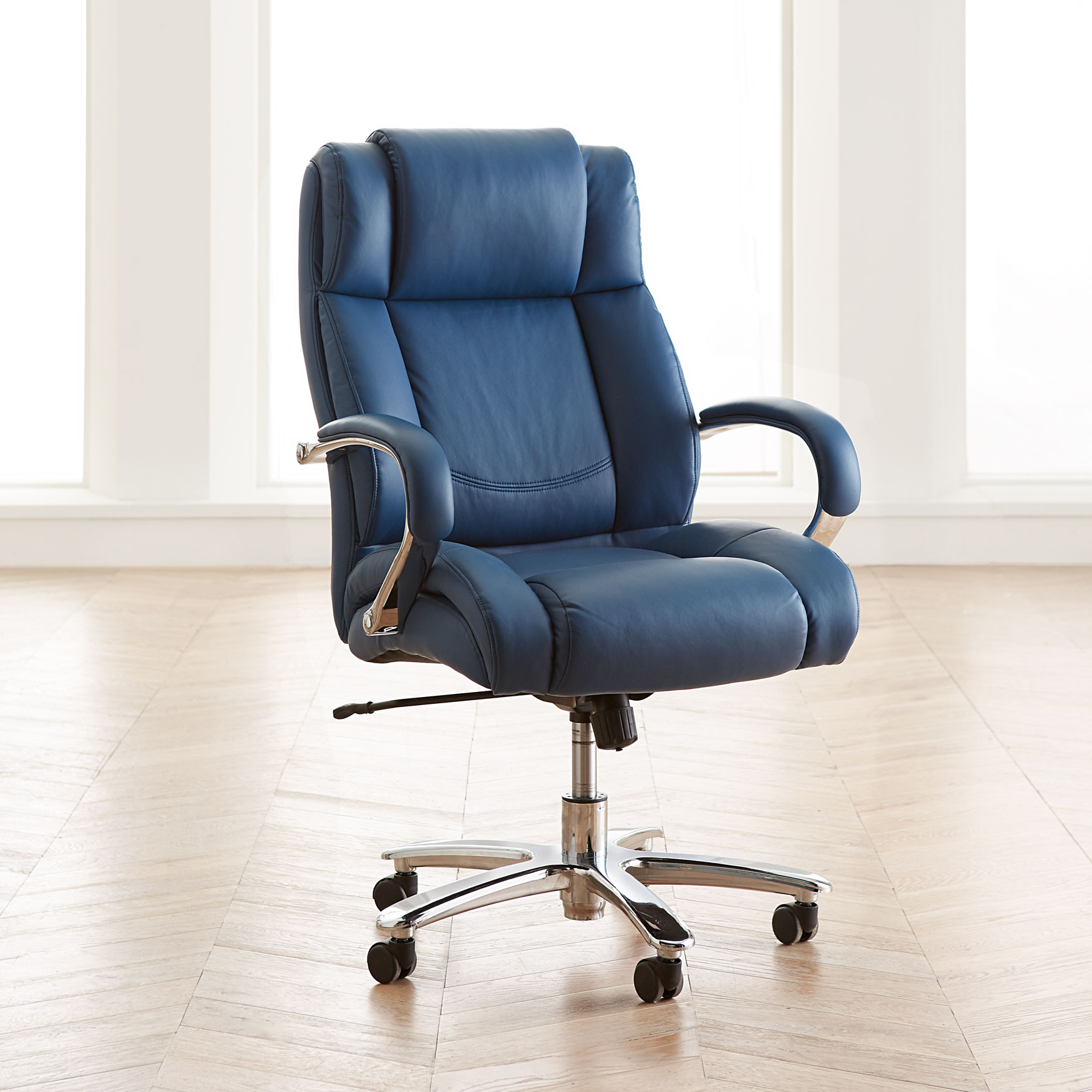 Big And Tall Chrome Finish Office Chair Brylane Home