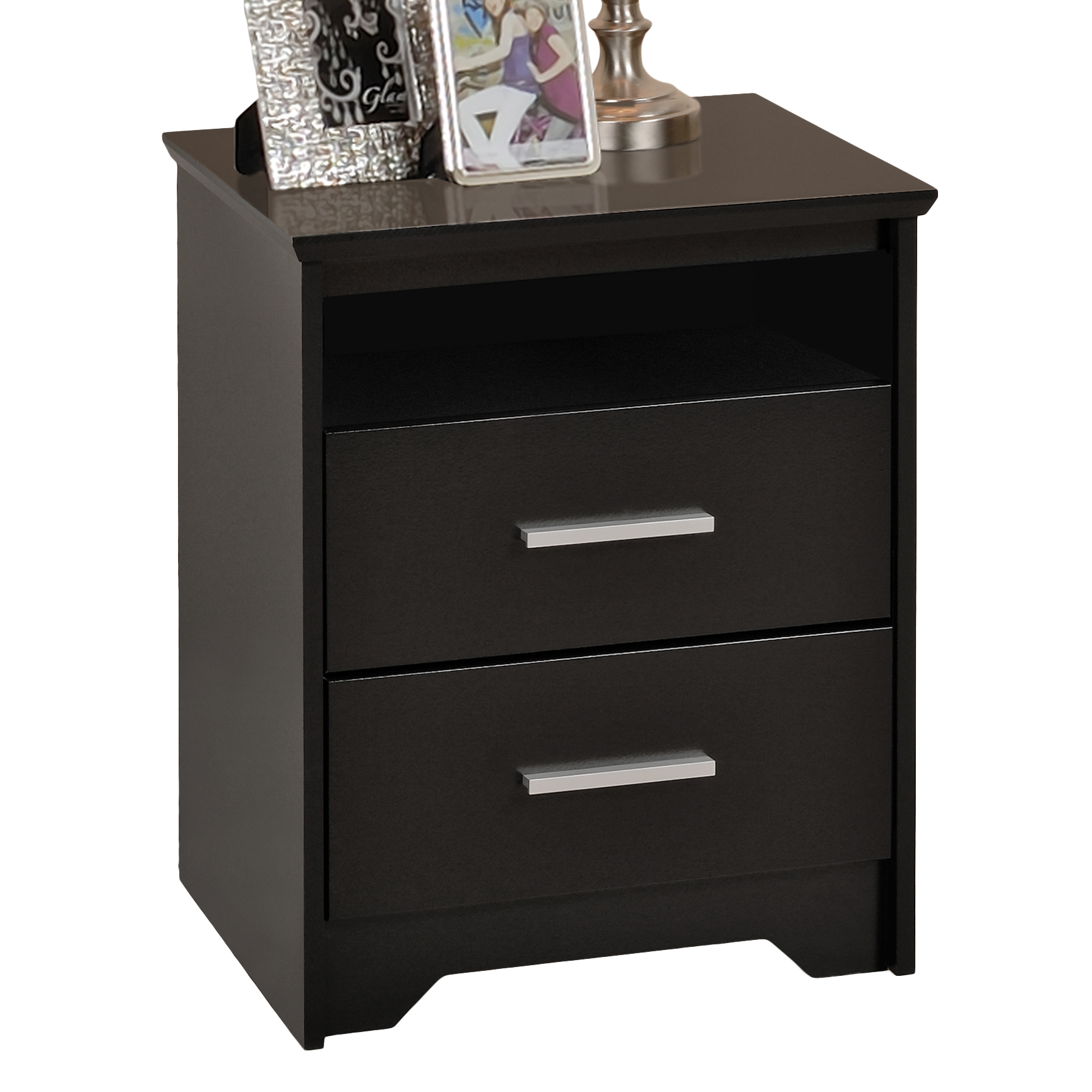 Coal Harbor Tall 2 Drawer Night Stand With Open Shelf