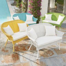 Roma Loveseat Outdoor Chairs Brylane Home