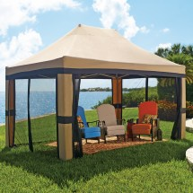 Oversized 10'x20' Instant Pop Gazebo With Screen Patio