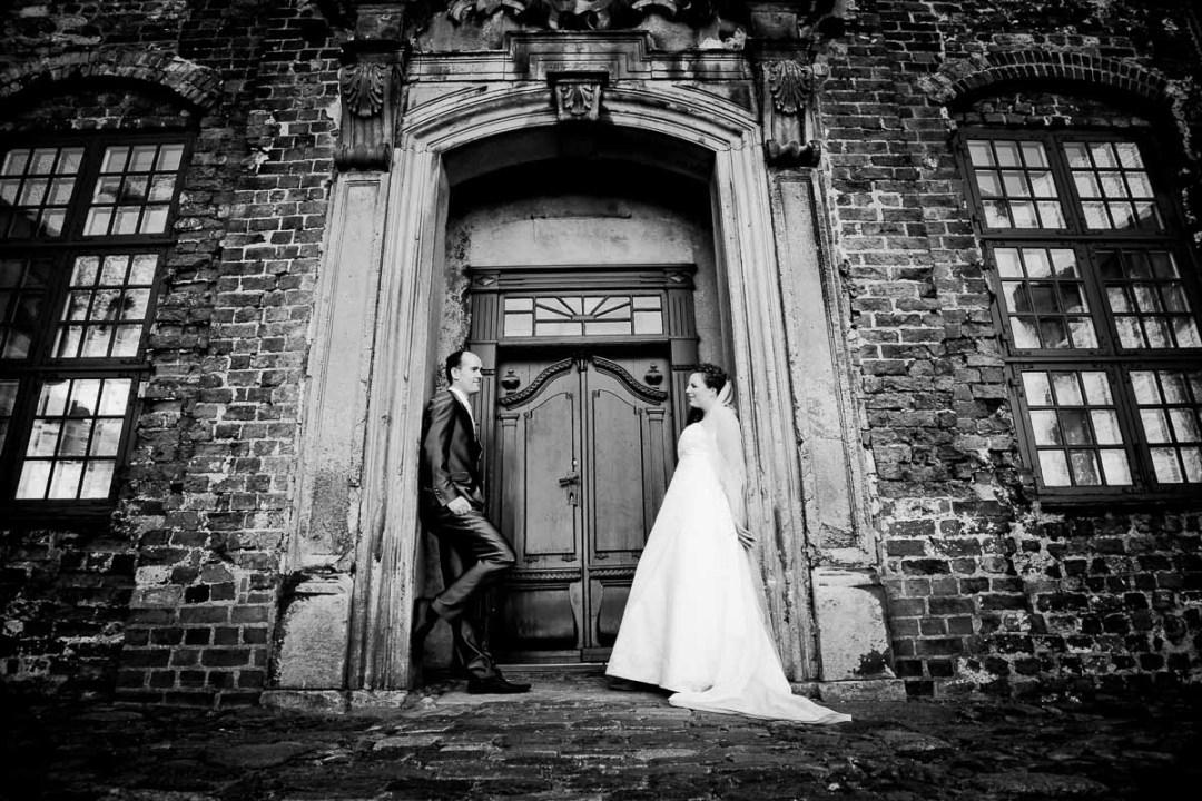 sort hvid portræt bryllup