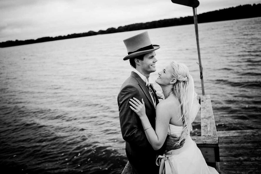 bryllupsbilleder ved vandet