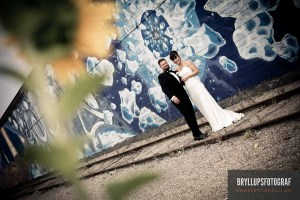 Portrætfoto ved bryllup