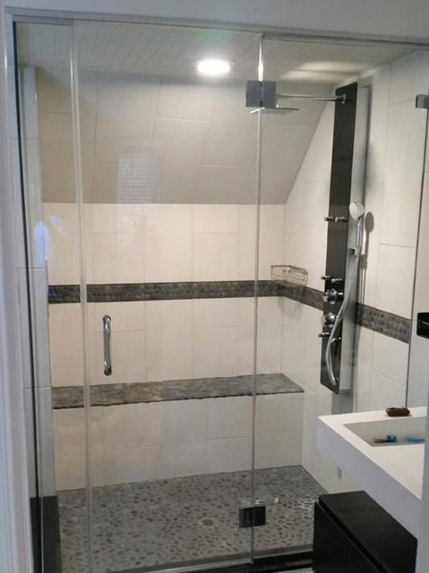 Custom Glass Shower Doors  Bryn Mawr Glass  Mirror