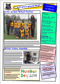 Weekly Newsletter w/c 21st January 2019