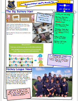 Weekly Newsletter w/e 17th May 2019