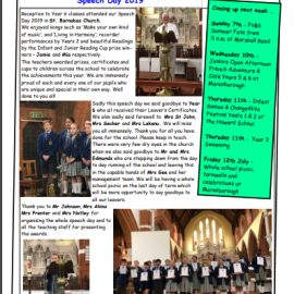 Weekly Newsletter w/e 5th July