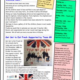 Newsletter w/e 6th September 2019