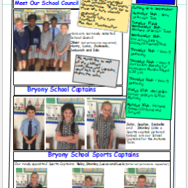 Weekly newsletter w/e 13th September