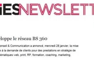 BS Communication dans le Strategies du 290115