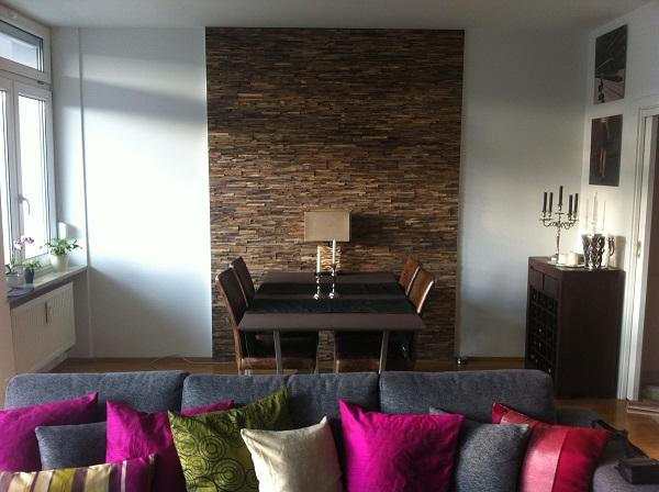Wandverkleidung Wohnzimmer Essbereich  BSHolzdesign