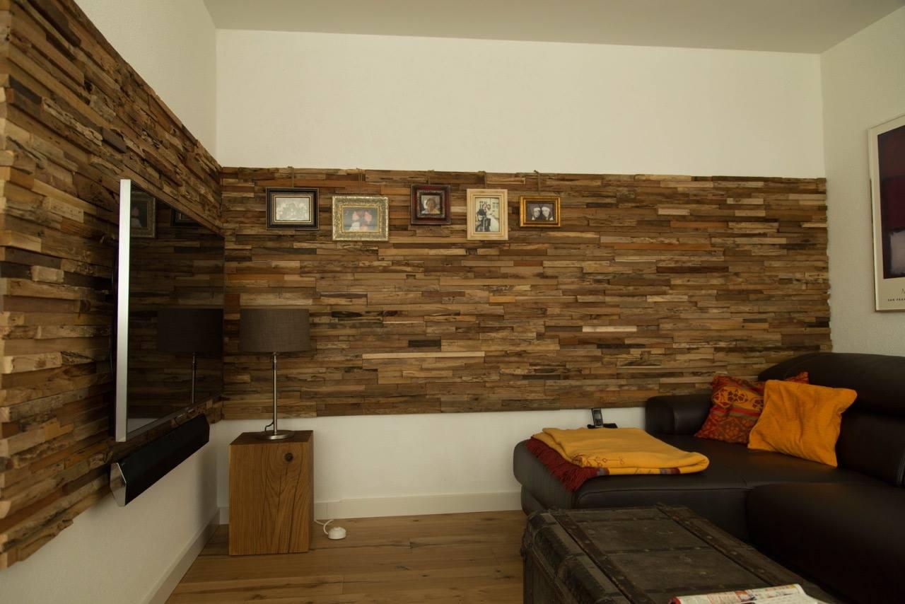 Wandverkleidung Holz Wohnzimmer  BSHolzdesign