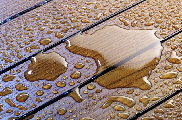 Teak Holz mit Gummifuge Badezimmer  BSHolzdesign